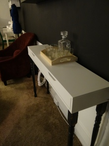 Console Table w/ drinking capabilities